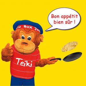 Teiki fait des crêpes à l'ile aux jeux